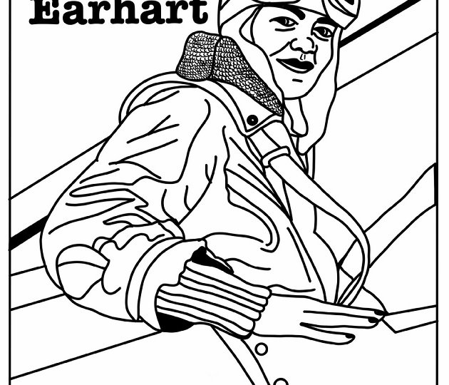 Amelia-Earhart-coloring-page-preview